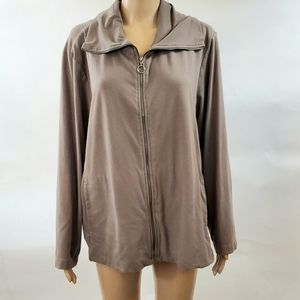Eileen Fisher Womans Full Zip Sweater Size XL